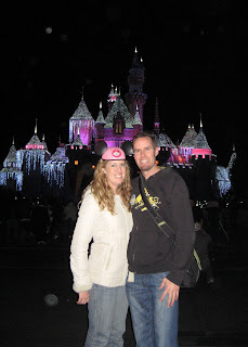Anna & Noah in front of the Sleeping Beauty Castle