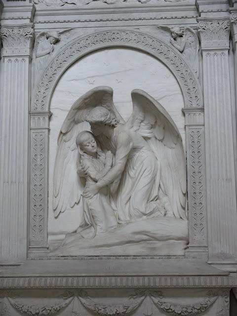Statue of Ada Beer in the Mausoleum of Julius Beer, Highgate Cemetery, London