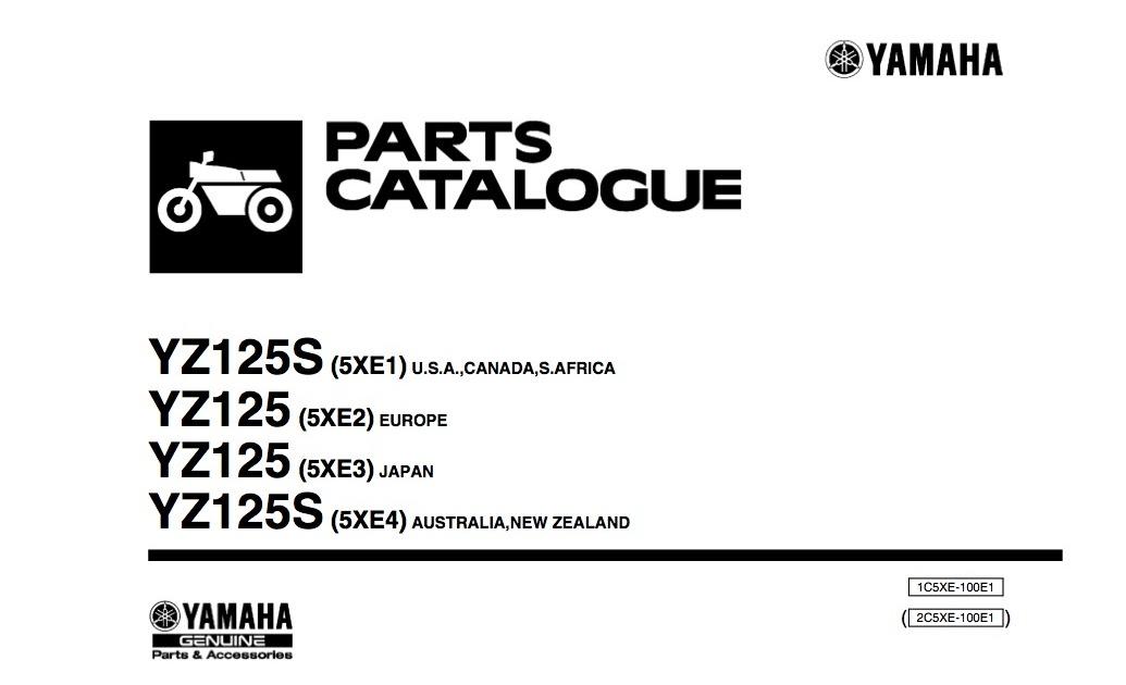 MotoMalaya: Yamaha YZ125S Parts Catalogue