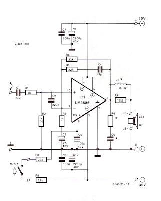 Hobby Electronic Circuits: 100 watt Amplifier Electronic