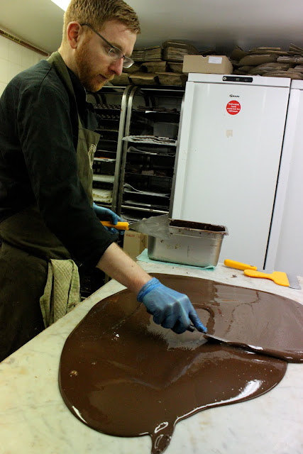 Paul A Young tempering chocolate