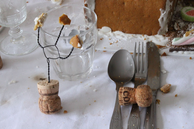 champagne cork sculpture,  new years eve supper club