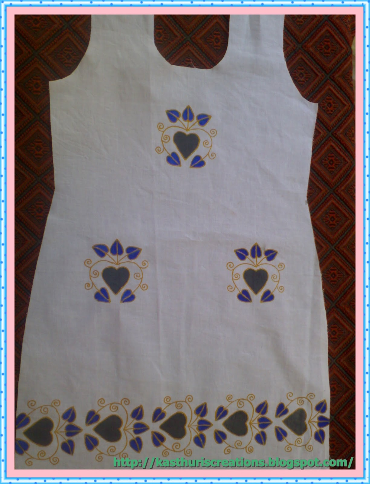 MaNiKa: Fabric painting in Kurti,Frock