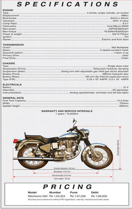 May 2009 Royal Enfield Motorcycles