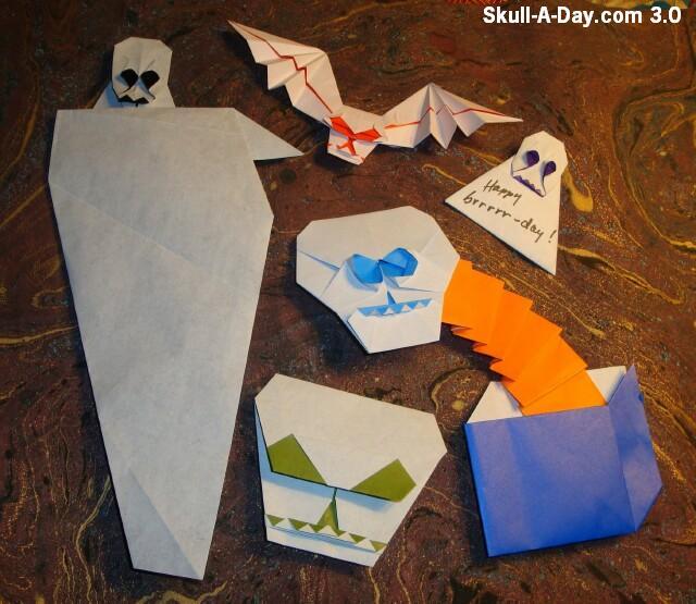 Origami Skulls