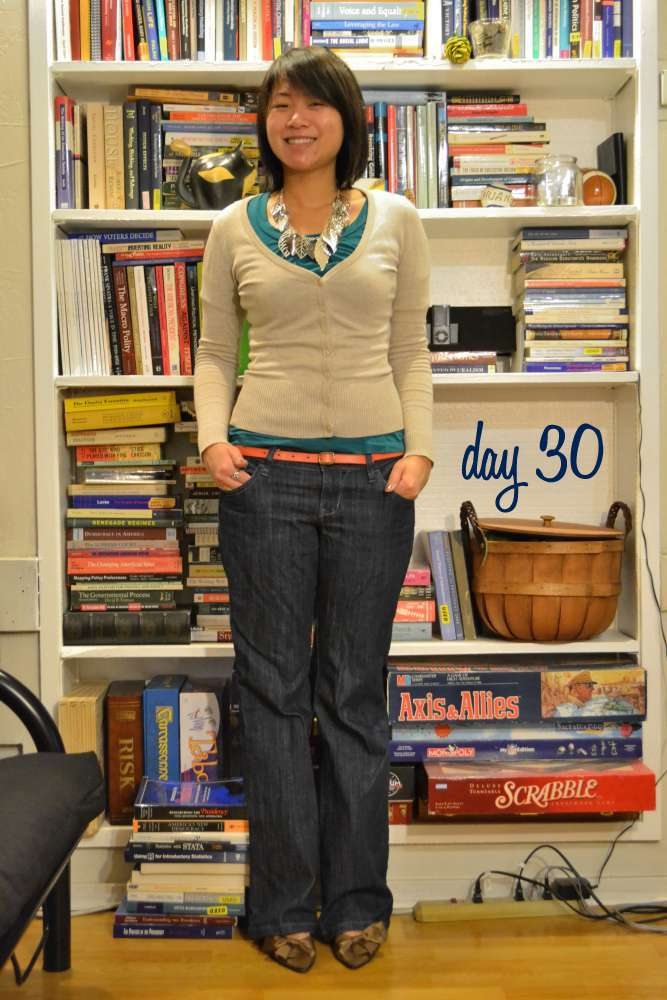 sacramento office fashion blogger angeline evans the new professional old navy jeans hm cardigan gap belt nina heels casual friday
