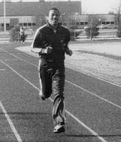 Oscar Moore running on the Rowan/Glassboro NJ track