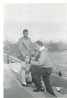 Oscar Moore accepting award at Van Cortland  Park, New York city in the 1960's, Photo courtesy Gary Corbitt