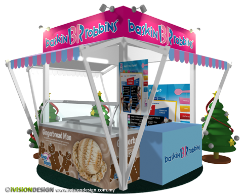 Exhibition Booth Design | Baskin Robbins Christmas 2010 - front view
