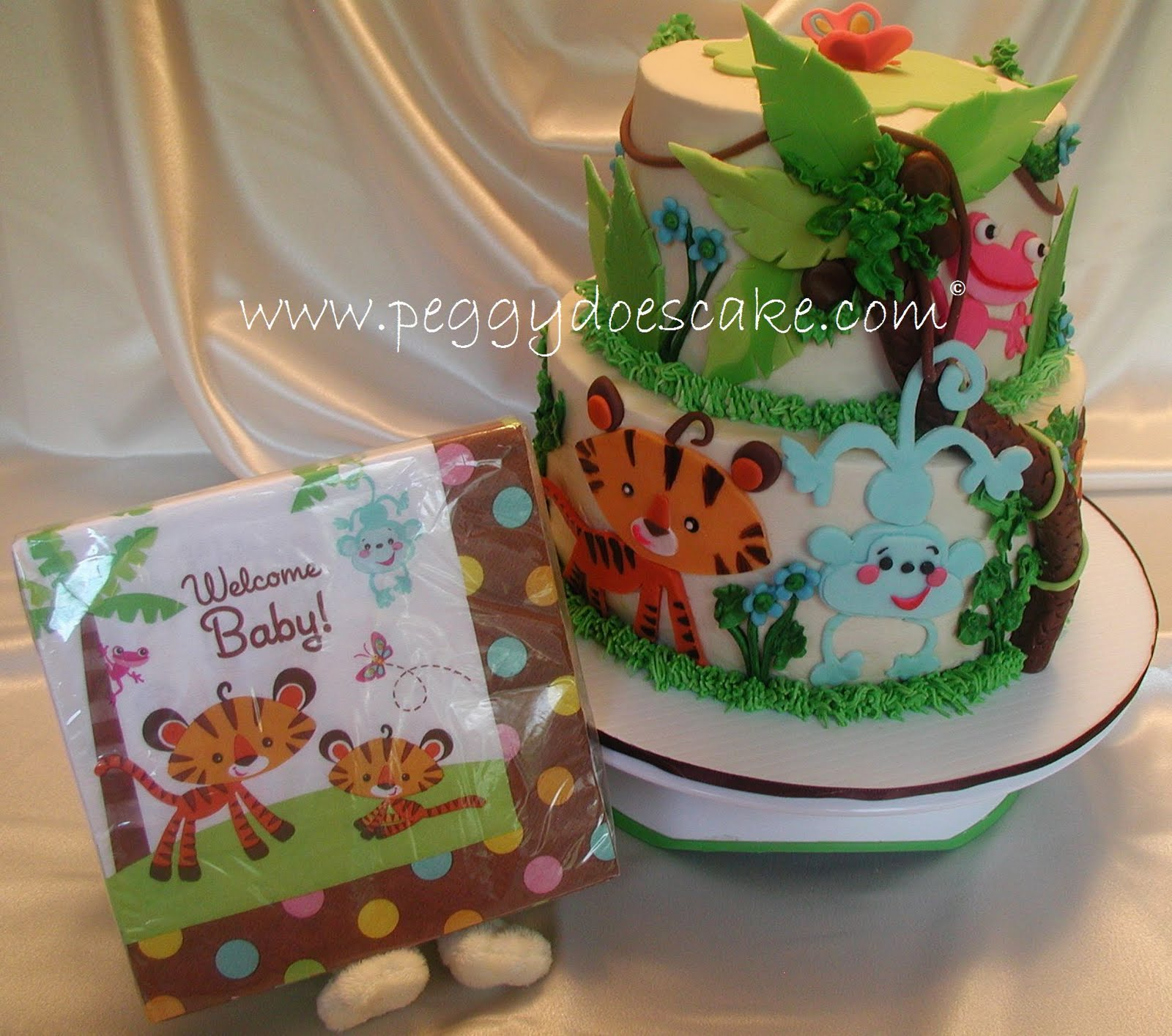Peggy Does Cake Mollys Fisher Price Rainforest Baby Shower Cake