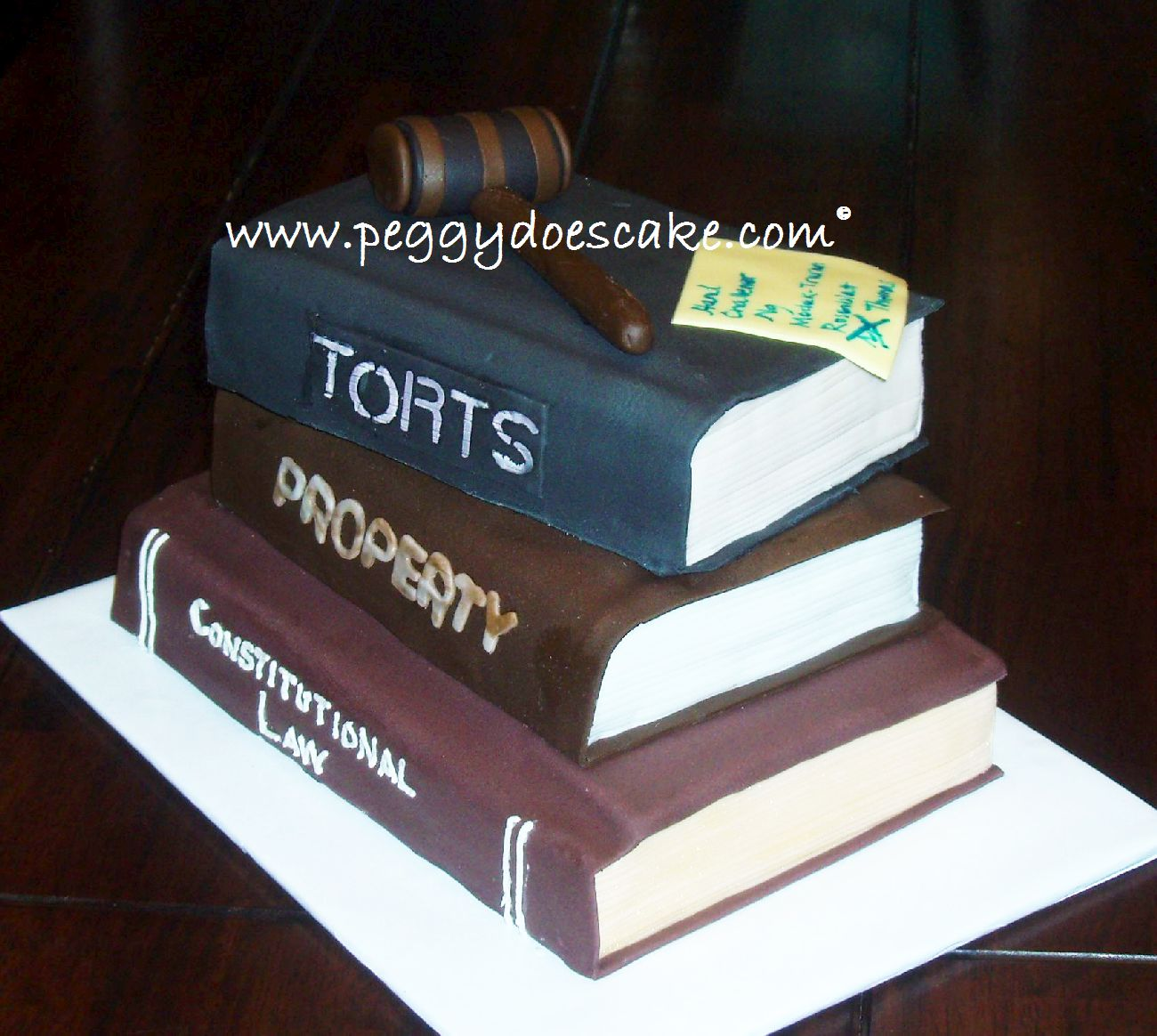 Hey Stop Stealing Photos Of My Law School Graduation Cake With Gavel And No That Isn T A Pipe On Top Click To Enlarge