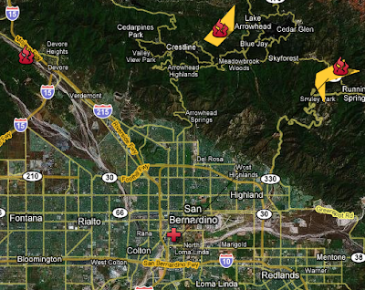 San Bernardino County, California Wildfires