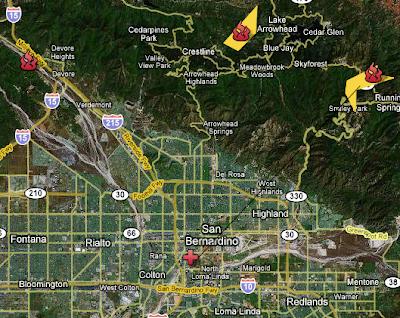 San Bernardino County, California Wildfires