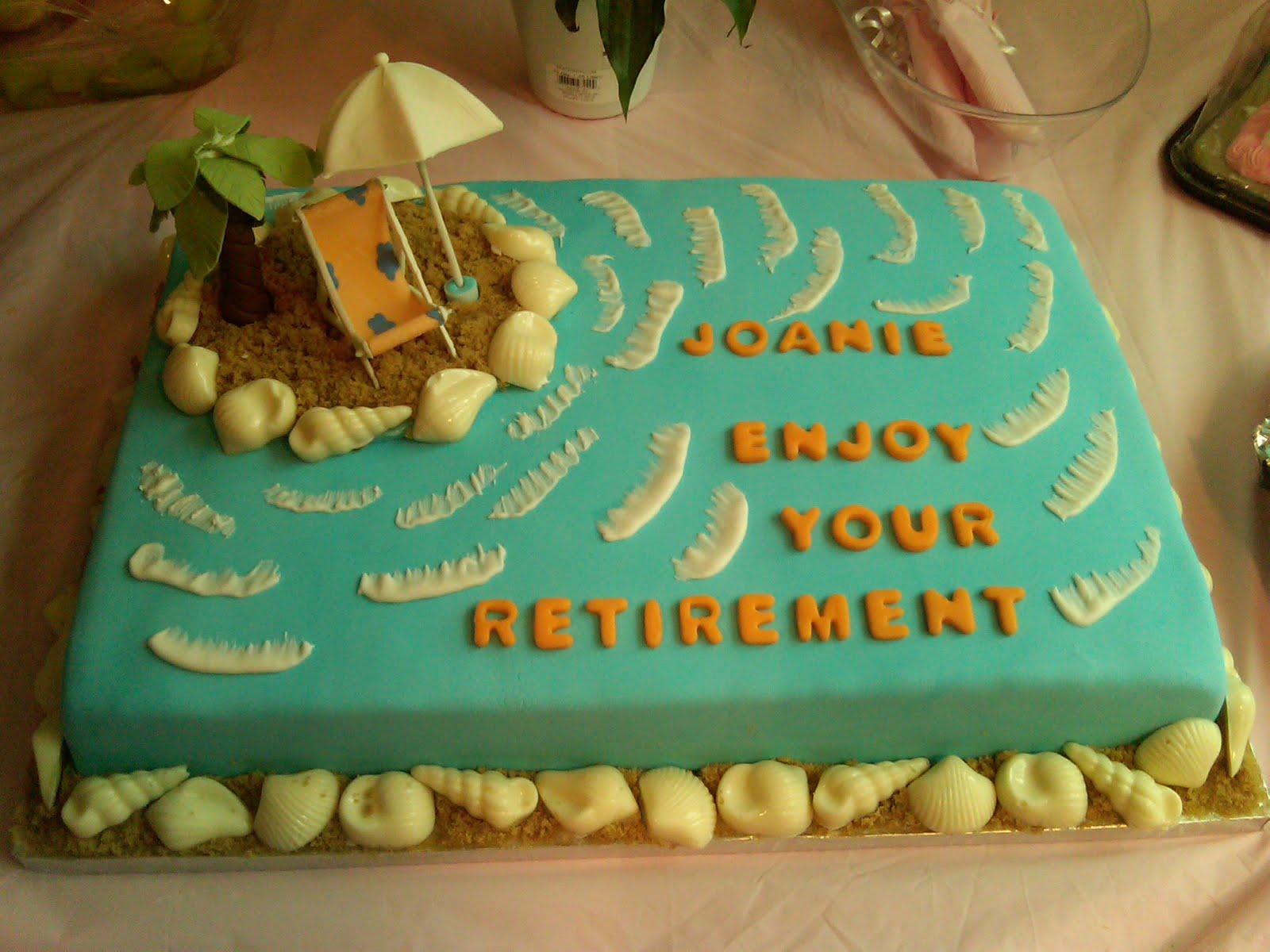 Cakes N Goo S Joanie S Retirement Cake