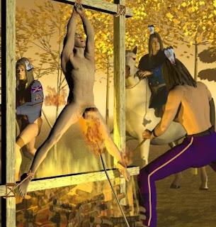 Hangings slaves dick with a motor hoist - 1 1
