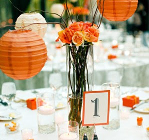 Orange Wedding Reception Table Decorations Placements Of And Yellow Carnival Spray Roses Ornamented The Tables Ed Bridal