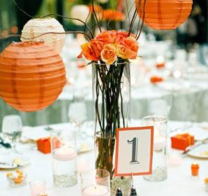 Orange Weddings Receptions Decorations Ideas Wedding Ideas Picture