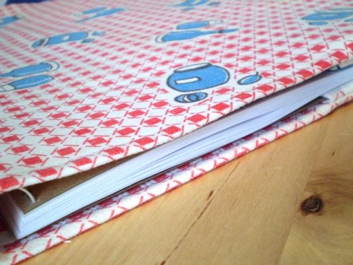 How to make a fabric notebook cover ...