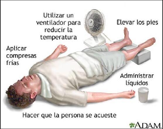 Golpe de calor e insolacion primeros auxilios