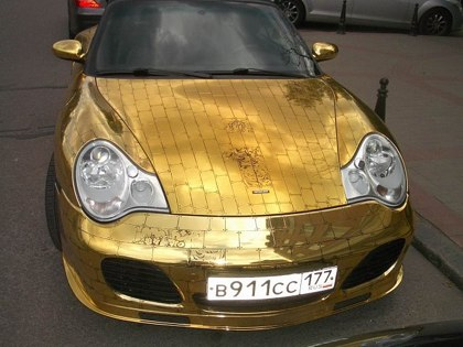 Golden Porsche Fail