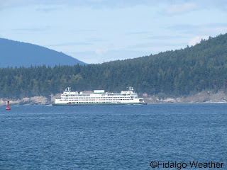 A Washington State Ferry Approaching Anacortes