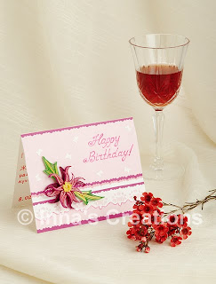 Birthday card with quilled embellishment