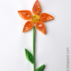 Simple flower: quilling for kids