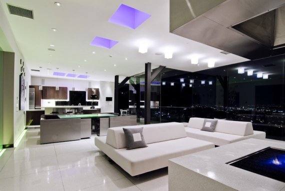 The bader house with modern interior lighting design