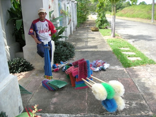 broom salesman, La Ceiba, Honduras