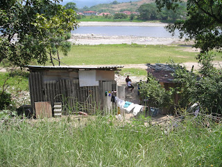 Honduran house on river bank