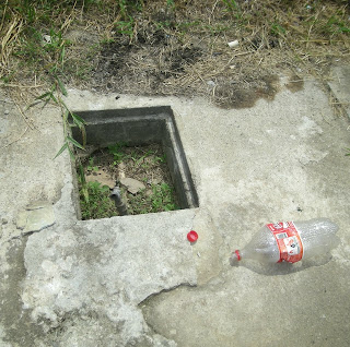open sewer, La Ceiba