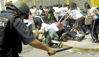 Student demonstrations, Tegucigalpa, Honduras