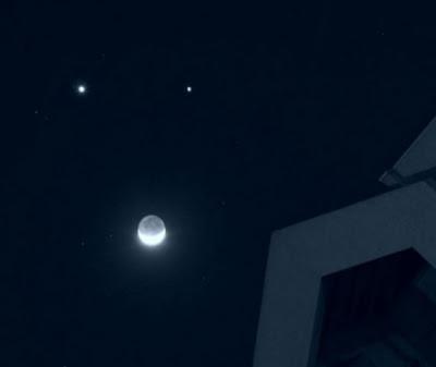Triple Conjunction Bulan, Venus dan Jupiter