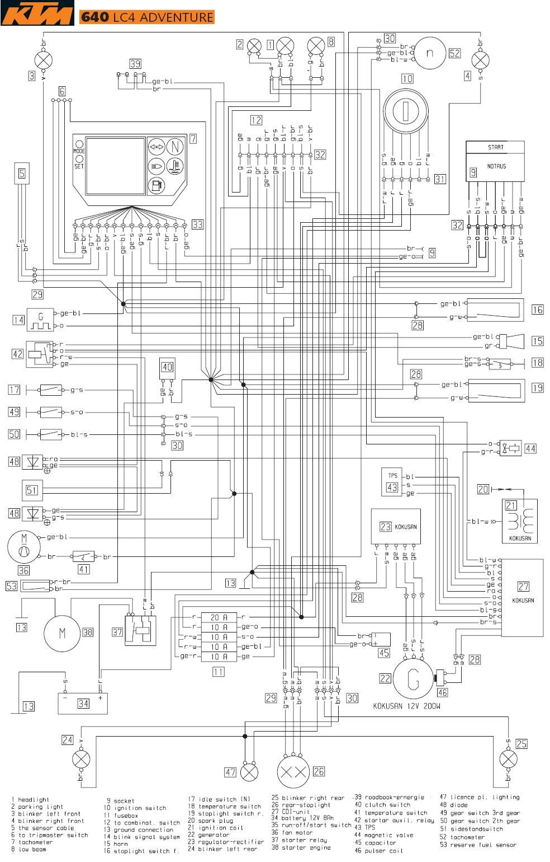 1995 ktm exc diagrama de cableado