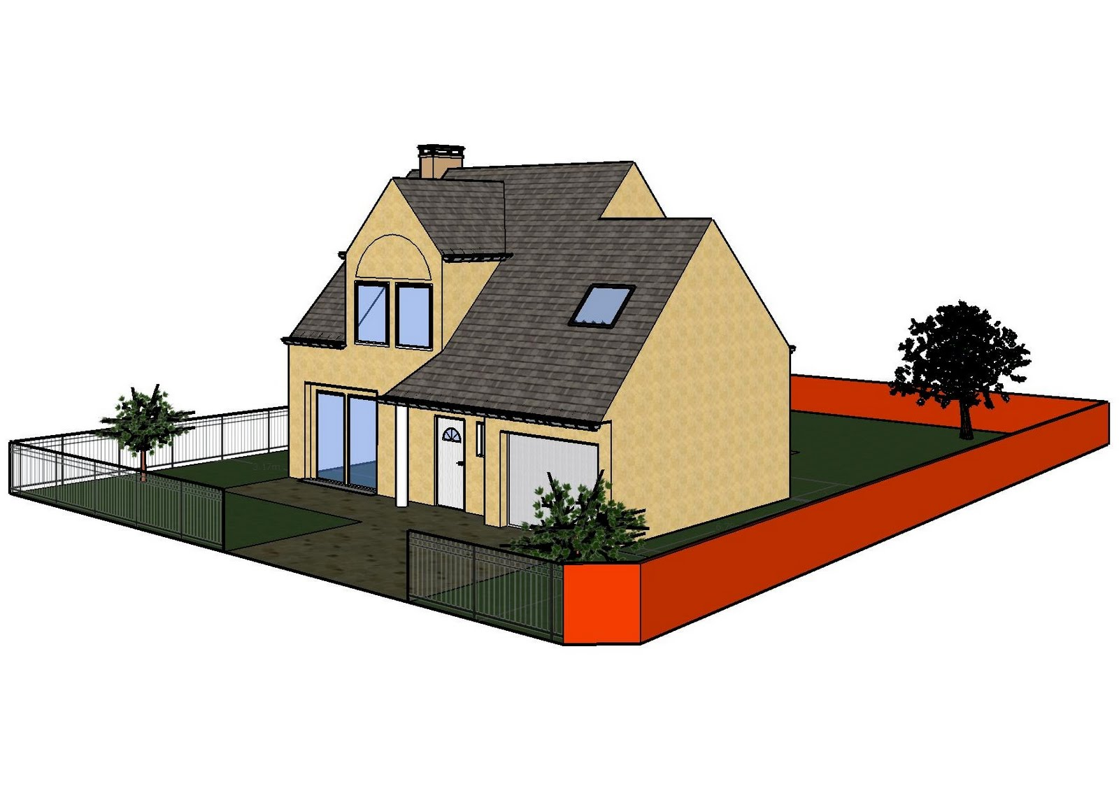 plan exterieur maison 3d gratuit