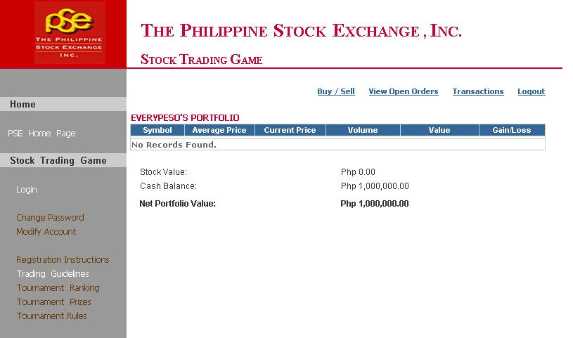 stock trading simulator