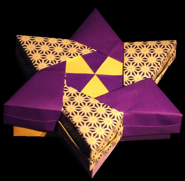 origami star box by robin glynn + folding instructions - photo#49