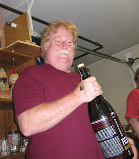 Dave and a big bottle of Kriek