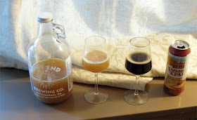 East End Kvass on the left, Russian Kvass on the right.