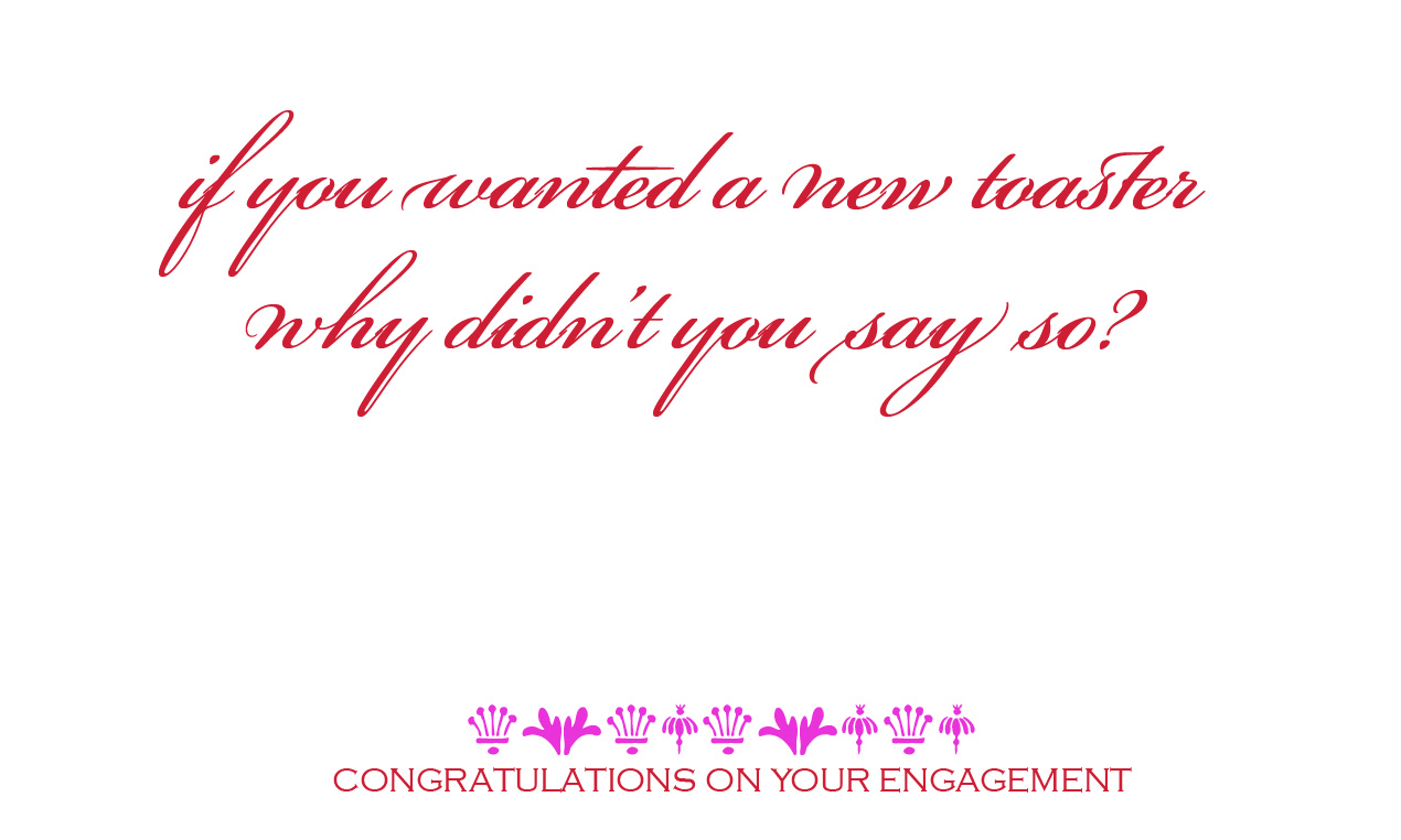 inbetweenloadingthedishwasher: happy engagement cards..