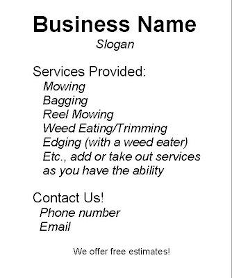 Lawn Care Flyer - lawn services flyer