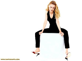 Heather Graham In Black Skin Fit Dress