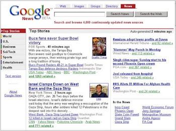 Google News im Jahr 2002