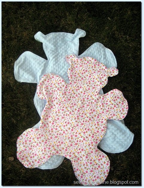 Teddy Bear Shaped Blanket