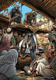 The Bible Illustration Blog Healing Of The Paralyzed Man