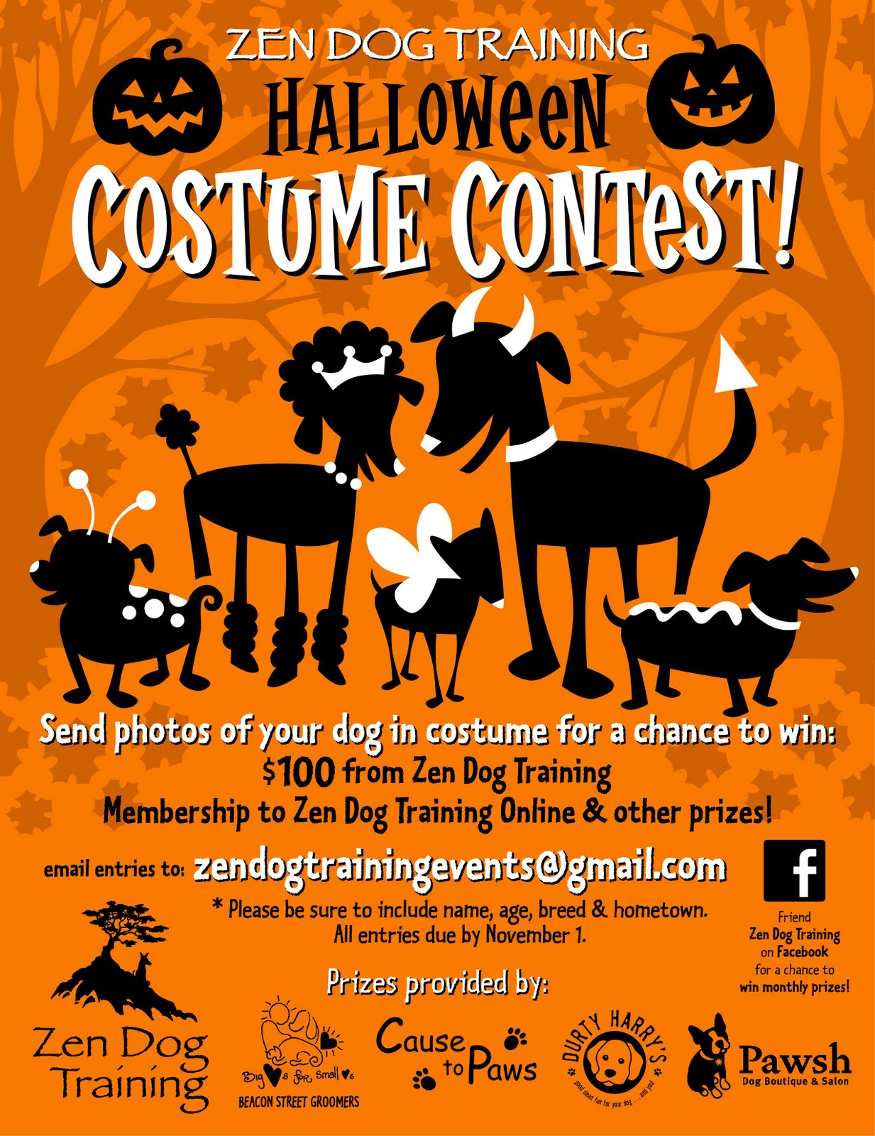 Zen Dog Training Blog: It's a Halloween Costume Contest!