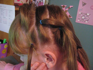 Rows of Three | Cute Hairstyles - Step 3