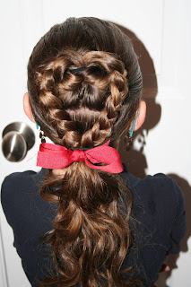Back view of the Flip-Braided Heart