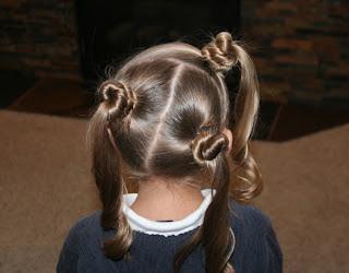 Back view of Triple-Bun Ponytails {Tri-Bun-Onies} | Cute Hairstyles