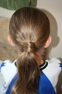 Back view of the Hair-Wrapped Ponytail | Easy Hairstyle Ideas